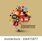 social media  communication in... | Shutterstock .eps vector #106471877