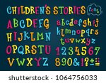 "set colored font ""children's... | Shutterstock .eps vector #1064756033"