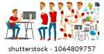 business man worker character... | Shutterstock .eps vector #1064809757