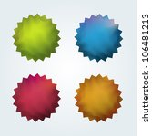 set of 4 quality vector... | Shutterstock .eps vector #106481213