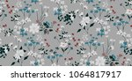 seamless floral pattern in... | Shutterstock .eps vector #1064817917