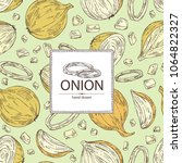 background with onion  rings ... | Shutterstock .eps vector #1064822327
