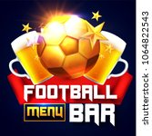 sport football bar menu design... | Shutterstock .eps vector #1064822543