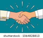 handshake of business people.... | Shutterstock .eps vector #1064828813