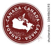 canada rubber stamp | Shutterstock .eps vector #1064863193