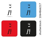 woman lingerie flat vector icon.... | Shutterstock .eps vector #1064866217