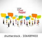 a large group of people gather... | Shutterstock .eps vector #106489403