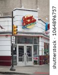 Small photo of Philadelphia, Pennsylvania, USA – August 2, 2016: Entrance of Johnny Rockets Diner at 443 South St, Headhouse District, Philadelphia, Pennsylvania