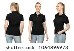 set promo pose girl in blank... | Shutterstock . vector #1064896973
