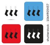 set of hanging christmas socks... | Shutterstock .eps vector #1064905457