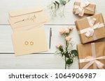 wedding background with... | Shutterstock . vector #1064906987