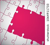 pink background puzzle.... | Shutterstock .eps vector #1064911733