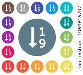 ascending numbered list flat...   Shutterstock .eps vector #1064916707