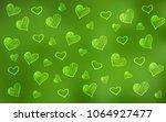 light green vector texture with ... | Shutterstock .eps vector #1064927477