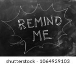 remind me handwritten on... | Shutterstock . vector #1064929103