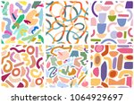 colorful vector seamless...   Shutterstock .eps vector #1064929697