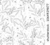 floral seamless monochrome... | Shutterstock .eps vector #1064929877