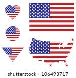 usa flag sign set   Shutterstock .eps vector #106493717