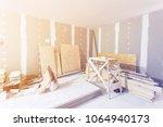 materials for construction  ... | Shutterstock . vector #1064940173