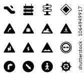 solid vector icon set  ... | Shutterstock .eps vector #1064949917