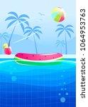 hello summer party banner... | Shutterstock .eps vector #1064953763