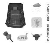 country scotland monochrome... | Shutterstock .eps vector #1064988977