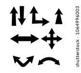 set of arrows vector... | Shutterstock .eps vector #1064996003