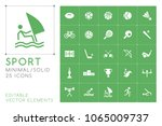 set of 25 universal sport icons ... | Shutterstock .eps vector #1065009737