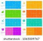 400 universal thin line black... | Shutterstock .eps vector #1065009767