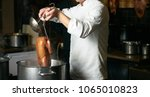 chef preparing of peking roast...   Shutterstock . vector #1065010823