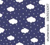 cartoon of night sky with stars ... | Shutterstock .eps vector #1065013247