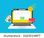 payment concept. computer...   Shutterstock .eps vector #1065014897