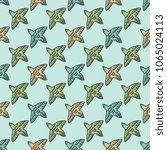 seamless pattern with birds... | Shutterstock .eps vector #1065024113