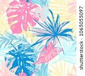 hand drawn grunge textured... | Shutterstock .eps vector #1065055097