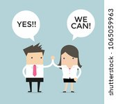 businessman and businesswoman... | Shutterstock .eps vector #1065059963