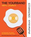 vinyl launch gig poster flyer... | Shutterstock .eps vector #1065068123