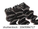 loose wavy black human hair... | Shutterstock . vector #1065086717
