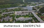aerial townscape and suburbs of ... | Shutterstock . vector #1065091763