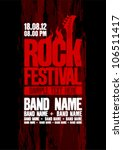 rock festival design template... | Shutterstock .eps vector #106511417