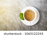 white coffee cup with... | Shutterstock . vector #1065122243