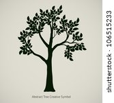 oak tree silhouette. vector... | Shutterstock .eps vector #106515233