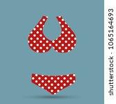 top polka dot summer mode ... | Shutterstock .eps vector #1065164693