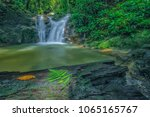 outdoor beauty nature waterfall ... | Shutterstock . vector #1065165767