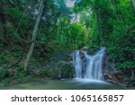 outdoor beauty nature waterfall ... | Shutterstock . vector #1065165857