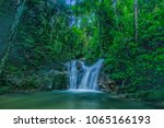 outdoor beauty nature waterfall ... | Shutterstock . vector #1065166193