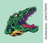 vintage crocodile   alligator... | Shutterstock .eps vector #1065170693