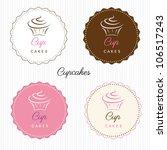cupcake set | Shutterstock .eps vector #106517243