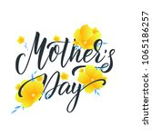 mothers day. mother's day... | Shutterstock .eps vector #1065186257