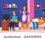 children parents parenthood... | Shutterstock .eps vector #1065200093