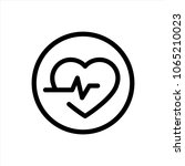 heart icon in trendy flat style ...